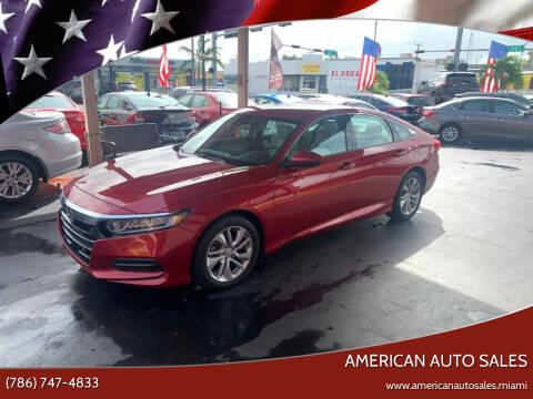 2018 Honda Accord for sale at American Auto Sales in Hialeah FL