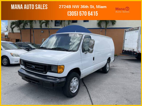 2006 Ford E-Series Cargo for sale at MANA AUTO SALES in Miami FL