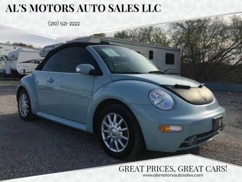 2004 Volkswagen New Beetle Convertible for sale at Al's Motors Auto Sales LLC in San Antonio TX