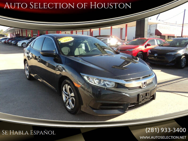 2018 Honda Civic for sale at Auto Selection of Houston in Houston TX