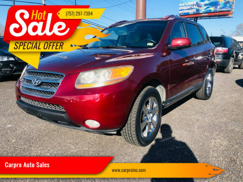 2007 Hyundai Santa Fe for sale at Carpro Auto Sales in Chesapeake VA