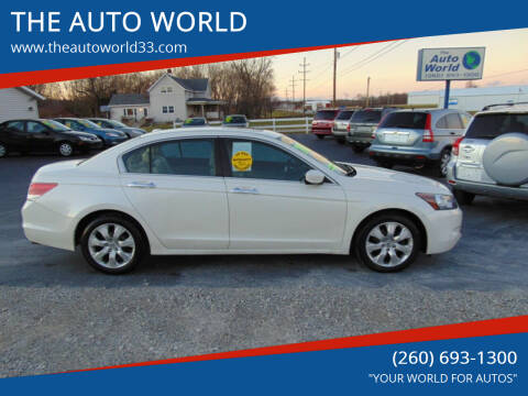 2009 Honda Accord for sale at THE AUTO WORLD in Churubusco IN