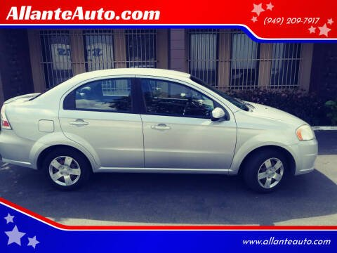 2010 Chevrolet Aveo for sale at AllanteAuto.com in Santa Ana CA
