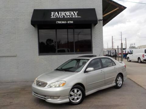 2003 Toyota Corolla for sale at FAIRWAY AUTO SALES, INC. in Melrose Park IL