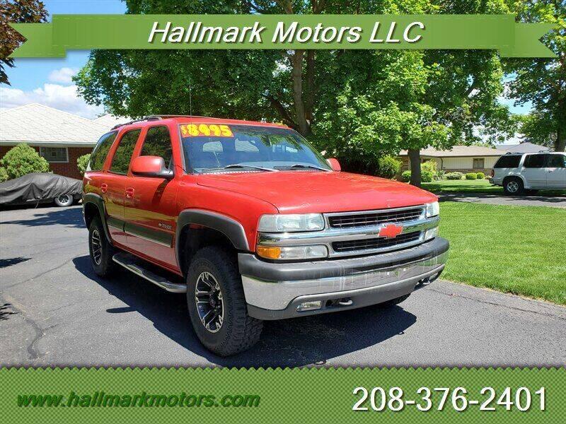 2002 Chevrolet Tahoe for sale at HALLMARK MOTORS LLC in Boise ID