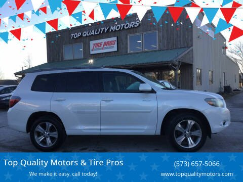 2009 Toyota Highlander for sale at Top Quality Motors & Tire Pros in Ashland MO