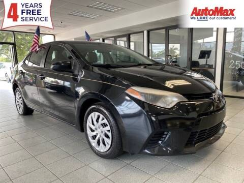 2016 Toyota Corolla for sale at Auto Max in Hollywood FL