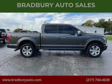 2015 Ford F-150 for sale at BRADBURY AUTO SALES in Gibson City IL