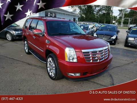 2013 Cadillac Escalade for sale at D & D Auto Sales Of Onsted in Onsted   Brooklyn MI