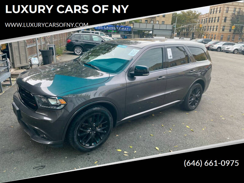 2016 Dodge Durango for sale at LUXURY CARS OF NY in Queens NY