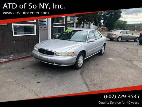 2001 Buick Century for sale at ATD of So NY, Inc. in Johnson City NY