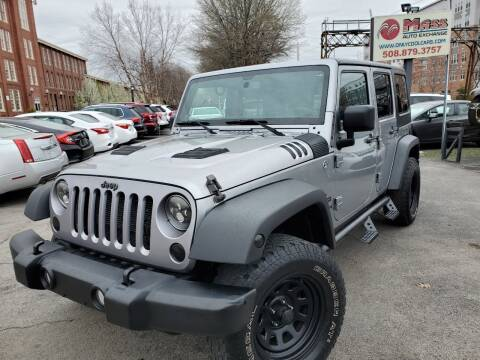 2013 Jeep Wrangler Unlimited for sale at Mass Auto Exchange in Framingham MA