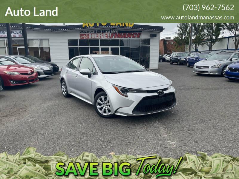 2020 Toyota Corolla for sale at Auto Land in Manassas VA