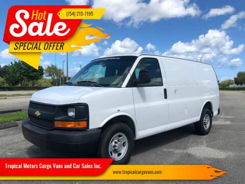 2012 Chevrolet Express Cargo for sale at Tropical Motors Cargo Vans and Car Sales Inc. in Pompano Beach FL