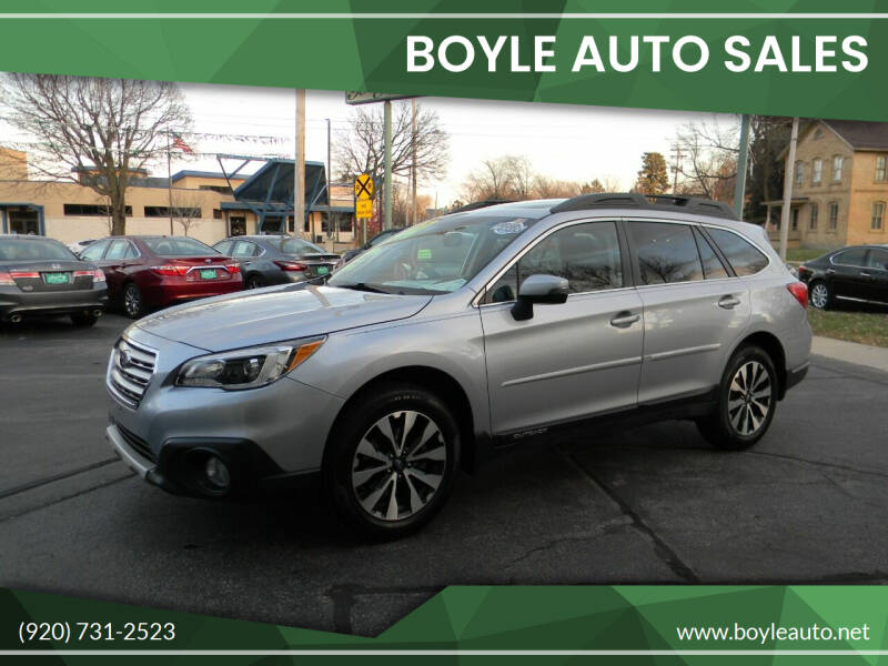 2015 Subaru Outback for sale at Boyle Auto Sales in Appleton WI
