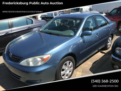 2002 Toyota Camry for sale at FPAA in Fredericksburg VA