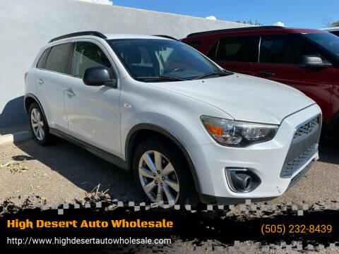 2013 Mitsubishi Outlander Sport for sale at High Desert Auto Wholesale in Albuquerque NM