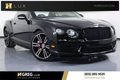 2015 Bentley Continental for sale at HGREG LUX EXCLUSIVE MOTORCARS in Pompano Beach FL