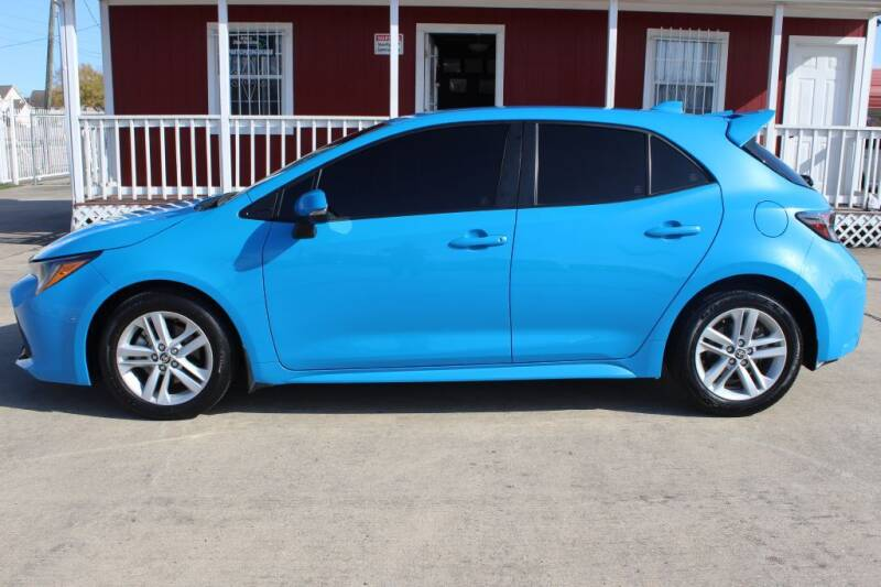 2019 Toyota Corolla Hatchback for sale at AMT AUTO SALES LLC in Houston TX