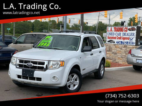 2008 Ford Escape Hybrid for sale at L.A. Trading Co. in Woodhaven MI