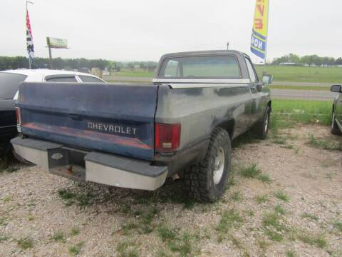1986 Chevrolet C/K 20 Series for sale at Hill Top Sales in Brenham TX