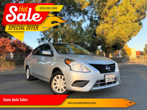 2016 Nissan Versa for sale at Sams Auto Sales in North Highlands CA