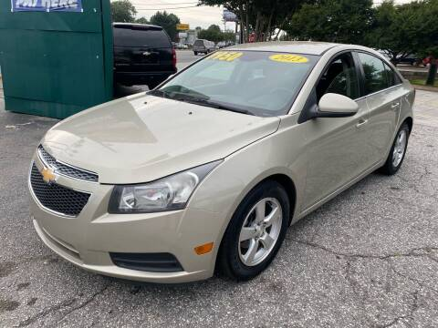 2013 Chevrolet Cruze for sale at Import Auto Mall in Greenville SC