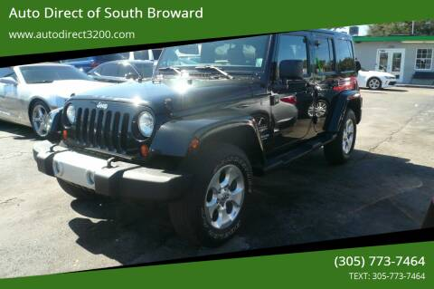 2013 Jeep Wrangler Unlimited for sale at Auto Direct of South Broward in Miramar FL