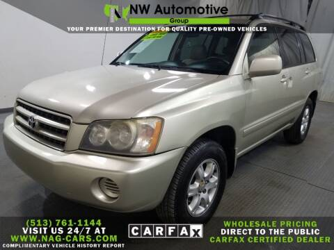 2003 Toyota Highlander for sale at NW Automotive Group in Cincinnati OH