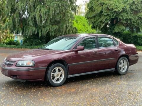 2003 Chevrolet Impala for sale at Q Motors in Lakewood WA