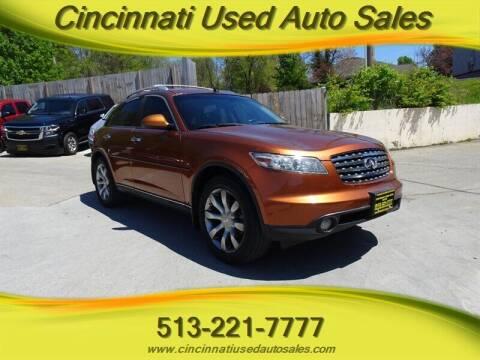 2004 Infiniti FX45 for sale at Cincinnati Used Auto Sales in Cincinnati OH
