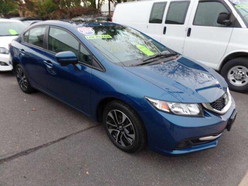 2015 Honda Civic for sale at CAR CORNER RETAIL SALES in Manchester CT