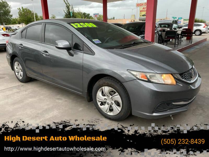 2013 Honda Civic for sale at High Desert Auto Wholesale in Albuquerque NM