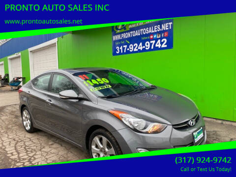 2011 Hyundai Elantra for sale at PRONTO AUTO SALES INC in Indianapolis IN