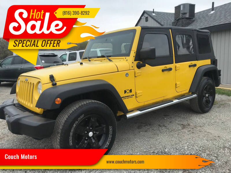 2009 Jeep Wrangler Unlimited for sale at Couch Motors in Saint Joseph MO