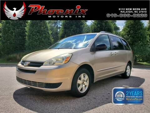 2004 Toyota Sienna for sale at Phoenix Motors Inc in Raleigh NC