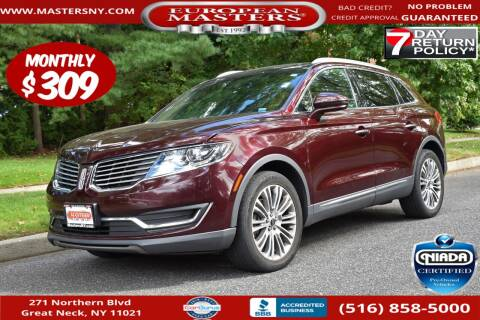 2017 Lincoln MKX for sale at European Masters in Great Neck NY