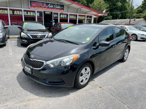 2016 Kia Forte for sale at Mira Auto Sales in Raleigh NC