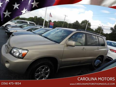 2007 Toyota Highlander for sale at CAROLINA MOTORS - Carolina Classics & More-Thomasville in Thomasville NC