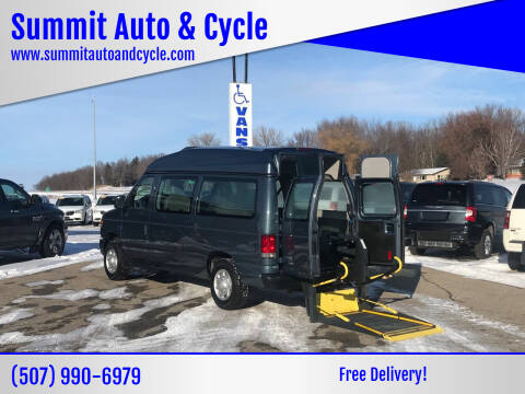2013 Ford E-Series Wagon for sale at Summit Auto & Cycle in Zumbrota MN