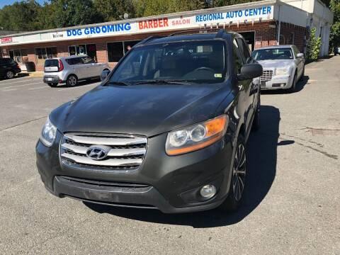 2012 Hyundai Santa Fe for sale at REGIONAL AUTO CENTER in Stafford VA