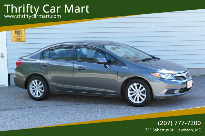 2012 Honda Civic for sale at Thrifty Car Mart in Lewiston ME