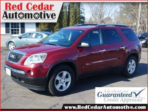 2009 GMC Acadia for sale at Red Cedar Automotive in Menomonie WI