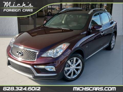 2016 Infiniti QX50 for sale at Mich's Foreign Cars in Hickory NC