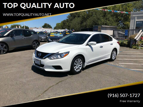 2017 Nissan Altima for sale at TOP QUALITY AUTO in Rancho Cordova CA