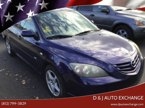2005 Mazda MAZDA3 for sale at D & J AUTO EXCHANGE in Columbus IN
