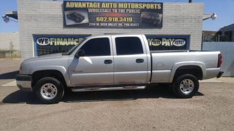 2004 Chevrolet Silverado 2500HD for sale at Advantage Motorsports Plus in Phoenix AZ