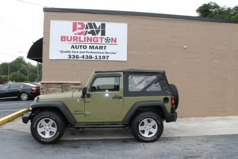 2013 Jeep Wrangler for sale at Burlington Auto Mart in Burlington NC