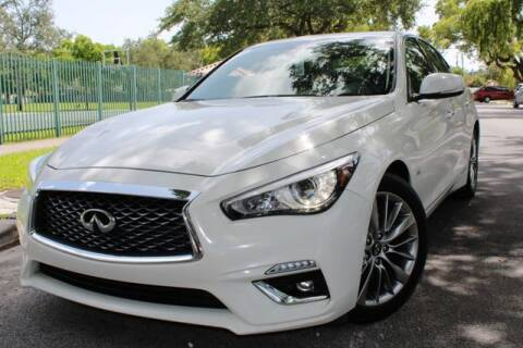 2018 Infiniti Q50 for sale at OCEAN AUTO SALES in Miami FL