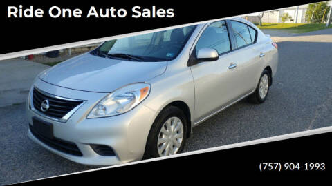 2014 Nissan Versa for sale at Ride One Auto Sales in Norfolk VA